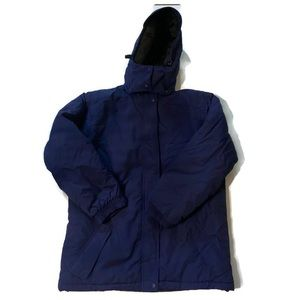 LL Bean Insulated Winter Parka Coat Removable Hood